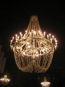 salt mines/ chandelier
