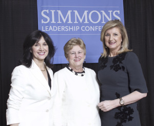 Me, Simmons President Helen Drinan, Arianna Huffington Carla Osberg Photography