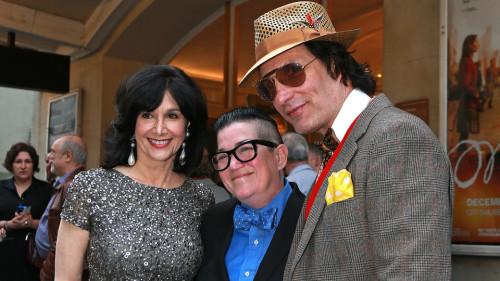 photo: by Matt West From left, Boston Theater Critics Association president Joyce Kulhawik, Lea DeLaria and Ryan Landry on the red carpet at the Elliot Norton Awards.