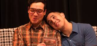 Eddie Shields and Gideon Bautista as Benji and Kenny in Edith Can Shoot Things and Hit Them