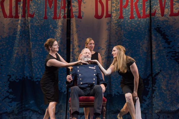 (l to r) Regan (Jeanine Kane), Cordelia (Libby McKnight), King Lear (Will Lyman), Regan (Deb Martin)  Photo:Andrew Brilliant/Brilliant Pictures