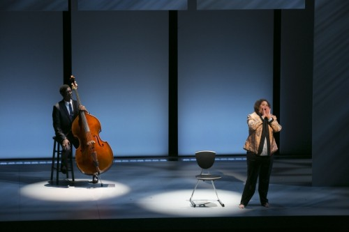 "Anna Deavere Smith and Marcus Shelby in ""Notes from the Field: Doing Time in Education."" Photo: Evgenia Eliseeva"